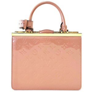 Louis Vuitton Patent Leather Vernis Satchel in Pink/Mauve
