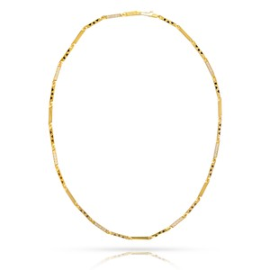 Cartier Diamond Panther Black Pattern 17inch Necklace 18K Chain Style