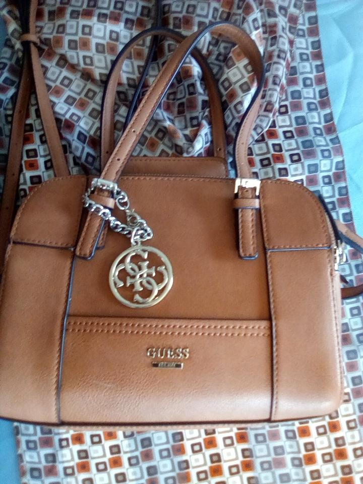 Guess Brown Leather Cross Body Bag - Tradesy