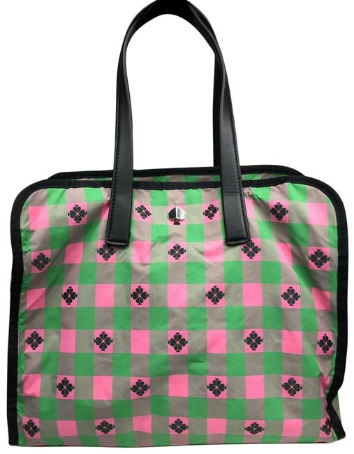 Item - XL Morley Pxrua237 Bright Pink Green Multi Nylon Tote
