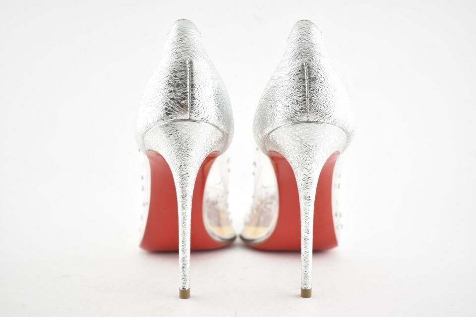 finest selection 8cb80 d2433 Christian Louboutin Silver Degrastrass Pvc 100 Specchio Clear Plastic  Pigalle Stiletto Heel Pumps Size EU 37 (Approx. US 7) Regular (M, B)