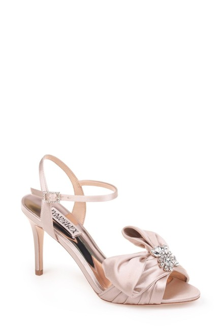 Item - Nude Samantha Strappy Champagne Satin Sandals Size US 7 Regular (M, B)