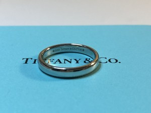Tiffany & Co. Platinum Classic Ring 5.5 Women's Wedding Band