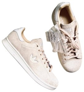 release date 45480 357df adidas Cream New Stan Smith Nude Suede Sneakers Size US 7.5 ...