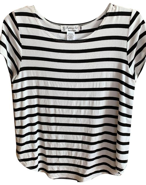 Item - Black and White Tee Shirt Size 4 (S)