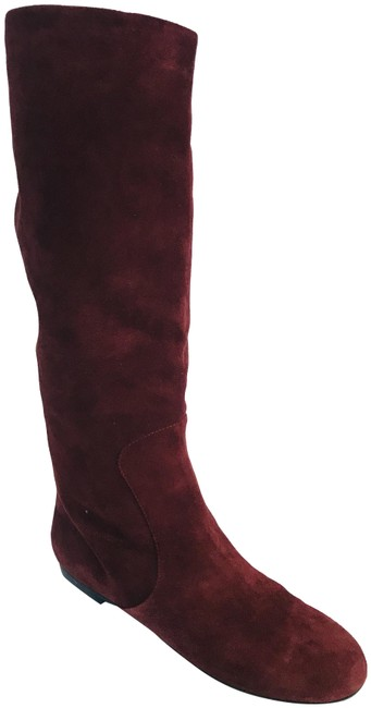 Item - Burgundy Suede Pull On Boots/Booties Size EU 39 (Approx. US 9) Regular (M, B)
