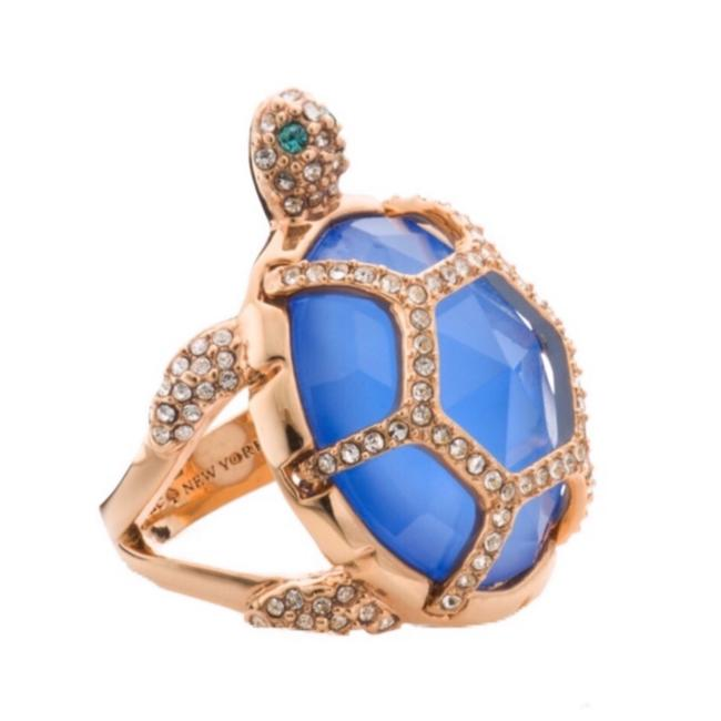 Item - Gold and Blue Paradise Found Turtle Ring