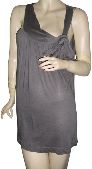 Item - Gray Large Bow Shirred Halter Maternity Layering Tunic Size 6 (S)