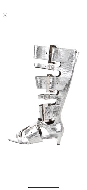 Item - Silver Ozzy Gladiator Sandal Boots/Booties Size US 7 Regular (M, B)