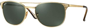 Ray-Ban Ray-Ban Signet Men's Gold-Tone Pilot Sunglasses w/ Glass Lens - RB3429