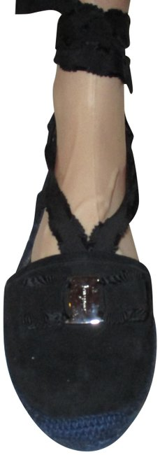 Salvatore Ferragamo Black Espadrille Strappy Sandals Wedges Size US 11 Regular (M, B) Salvatore Ferragamo Black Espadrille Strappy Sandals Wedges Size US 11 Regular (M, B) Image 1