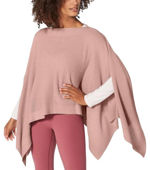 Item - Heathered Mink Berry Forward Flow Poncho/Cape Size OS (one size)