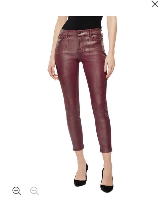 Item - Coated Maroon 9011596 Skinny Jeans Size 8 (M, 29, 30)