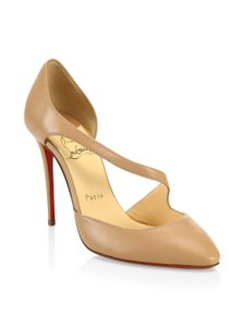 dba8c326a9 Christian Louboutin Sandals Asymmetric Catchy One D'orsay Nude Pumps