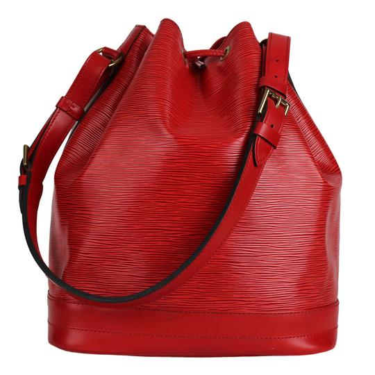 Louis Vuitton Noe Leather Shoulder Bags Epi Leather Tote in Red Image 1