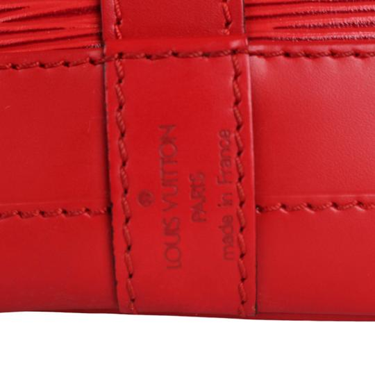 Louis Vuitton Noe Leather Shoulder Bags Epi Leather Tote in Red Image 10