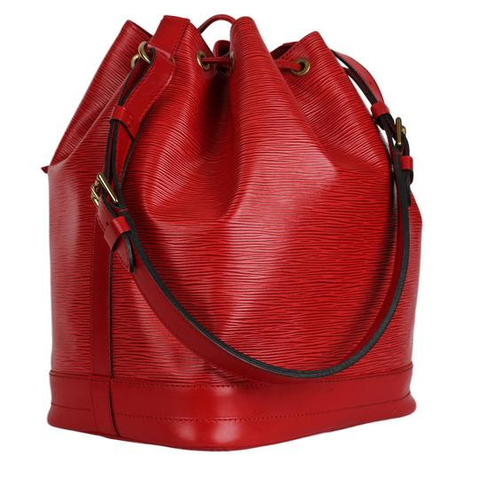 Louis Vuitton Noe Leather Shoulder Bags Epi Leather Tote in Red Image 2