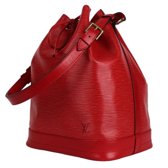 Louis Vuitton Noe Leather Shoulder Bags Epi Leather Tote in Red Image 3