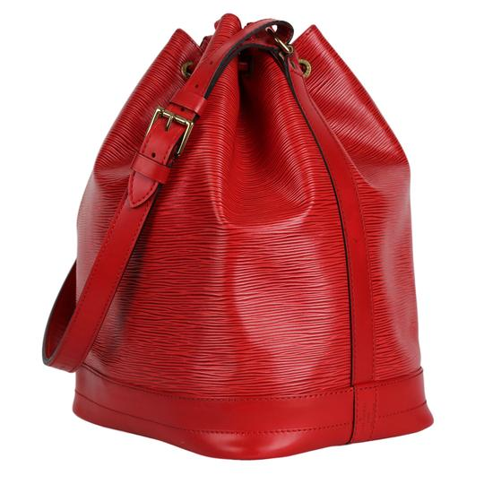 Louis Vuitton Noe Leather Shoulder Bags Epi Leather Tote in Red Image 6