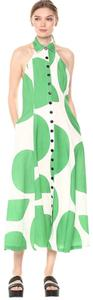 green and white Maxi Dress by Mara Hoffman