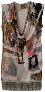 Ali Ro Abstract Print Cowl Neck Dress