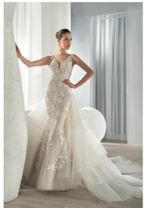 Demitrious Wedding Gowns.Demetrios Ivory Beaded Nude Gown 626 Sexy Wedding Dress Size 4 S 61 Off Retail