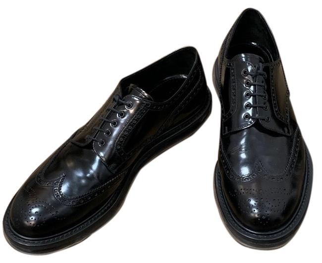 Item - Black Leather Brogue Oxfords Flats Size US 12 Extra Wide (Ww, Ee)