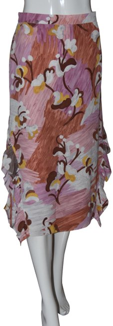 Item - Multi-color Milano Collection Pink Floral Pencil Skirt Size 8 (M, 29, 30)