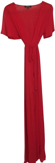 Item - Red Wrap Long Casual Maxi Dress Size 8 (M)