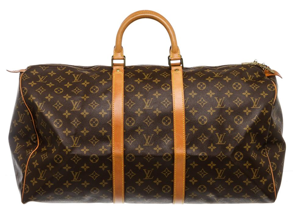 1e35885aa Louis Vuitton Duffle Keepall Monogram 55 Cm Luggage Brown Canvas and ...