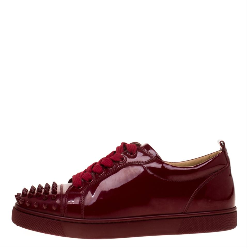 d8f7cad7bc4 Christian Louboutin Burgundy Patent Leather Louis Junior Spikes Sneakers  Flats Size EU 38.5 (Approx. US 8.5) Regular (M, B) 38% off retail