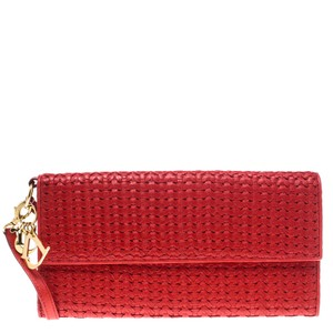 Dior Leather Red Clutch