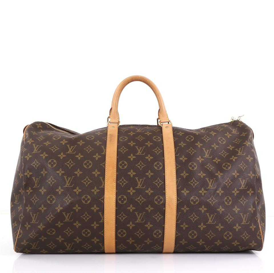 70e6c9d79 Louis Vuitton Keepall 55 Brown Monogram Canvas Weekend/Travel Bag ...