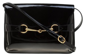 Gucci Patent Leather Canvas Shoulder Bag