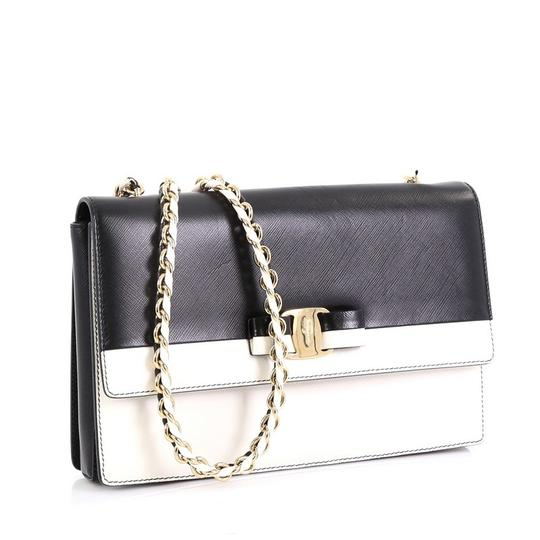 Salvatore Ferragamo Ginny Crossbody Satchel in black and white Image 1