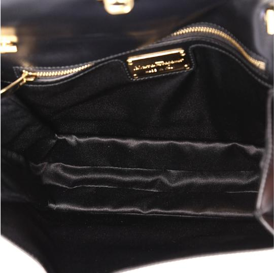Salvatore Ferragamo Ginny Crossbody Satchel in black and white Image 4
