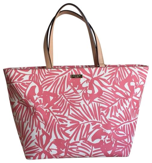 Preload https://item4.tradesy.com/images/kate-spade-tote-pink-white-leather-and-polyvinyl-hobo-bag-25537163-0-5.jpg?width=440&height=440