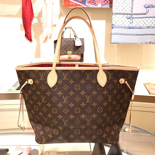 Louis Vuitton Vintage Leather Tote in Monogram Image 1