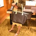 Louis Vuitton Vintage Leather Tote in Monogram Image 10