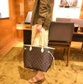 Louis Vuitton Vintage Leather Tote in Monogram Image 11