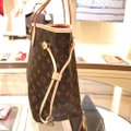 Louis Vuitton Vintage Leather Tote in Monogram Image 4