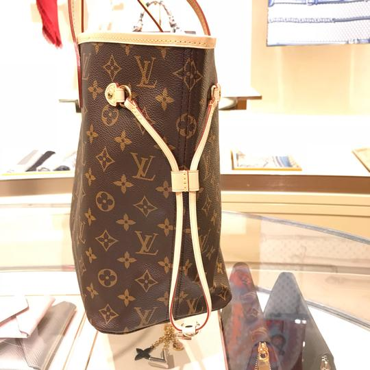 Louis Vuitton Vintage Leather Tote in Monogram Image 5