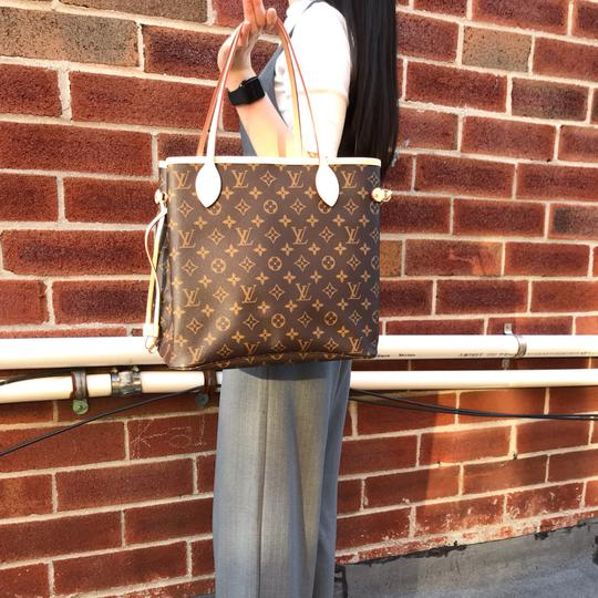 Louis Vuitton Vintage Leather Tote in Monogram Image 7