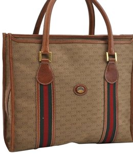Gucci Sherry Line Anniversary Edition Gg Vintage Excellent Tote in Brown