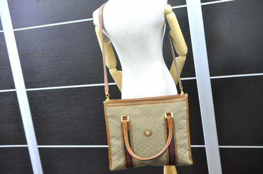 Gucci Sherry Line Anniversary Edition Gg Vintage Excellent Tote in Brown Image 1
