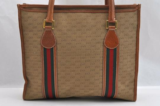 Gucci Sherry Line Anniversary Edition Gg Vintage Excellent Tote in Brown Image 11