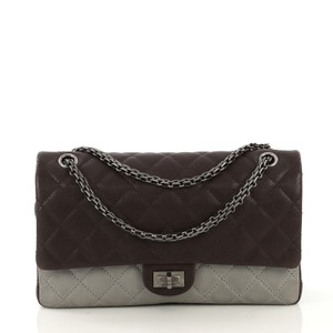 Chanel Reissue Quilted Satchel in Brown and Gray