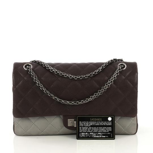 Chanel Reissue Quilted Satchel in Brown and Gray Image 1