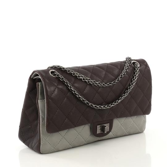 Chanel Reissue Quilted Satchel in Brown and Gray Image 2