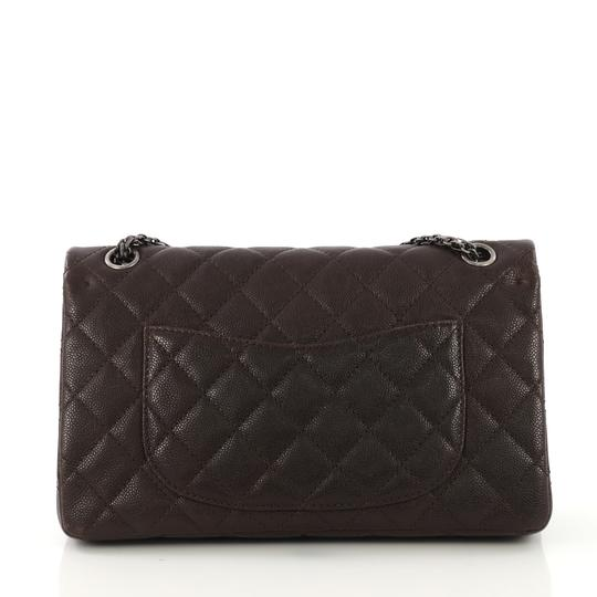 Chanel Reissue Quilted Satchel in Brown and Gray Image 3